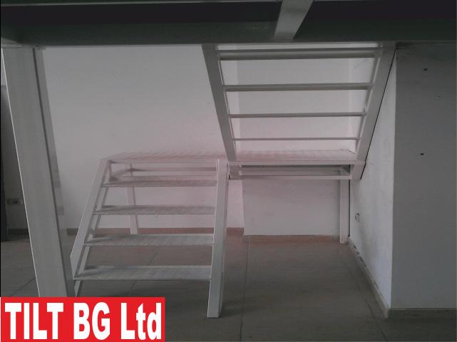 Проектиране, производство и монтаж на метална подова конструкция за халета, офис сгради, складове, заведения и др.