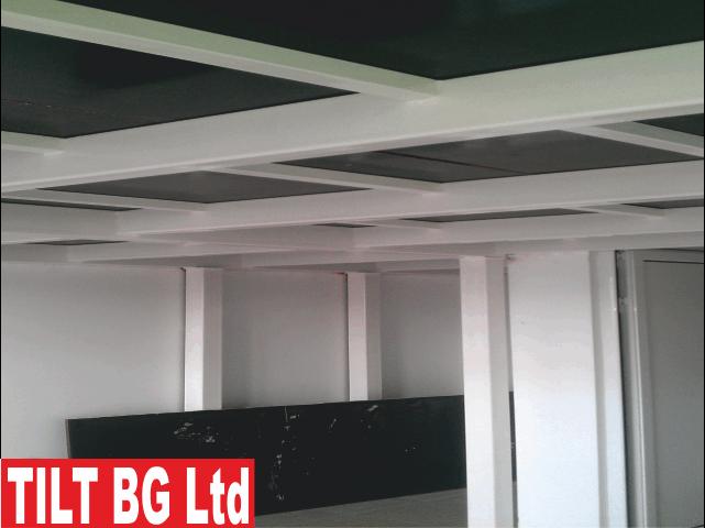 Проектиране, производство и монтаж на метални подови конструкции за халета, офис сгради, складове, заведения и др.