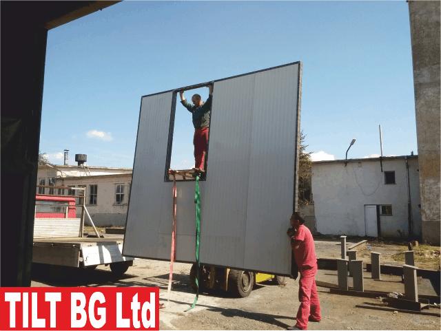 Врати от метал. Производство, доставка и монтаж на портални врати, секционни врати за складове, метални халета и др.